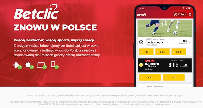 Betclic polska online legalnie