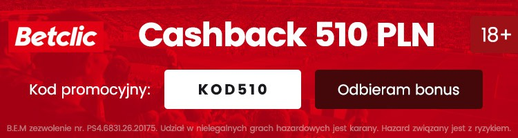 legalny bukmacher betclic cashback bonus